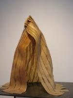 2006 - cape 1 - latex, fil de couture et acier - 52x35x40cm