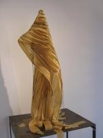 2006 - cape 2 - latex, fil de couture et acier - 52x30x40cm