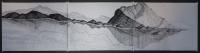 2015 - triptyque - encre de Chine, acrylique, mine de plomb - 3X 57x76cm