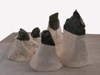 2018 - Sommets - pierre calcaire, plâtre modifié, fibre de verre