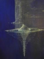 2019 - Bleu - acrylique, encre de Chine - 50x65cm