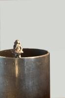 2014 - Le cylindre - acier et bronze - 18,5x12cm