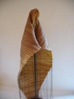 2006 - Elle sans les mots - latex, fil et socle en acier - 165x80x70cm
